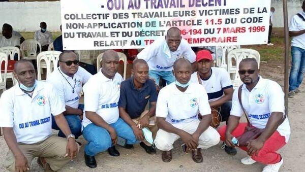 Le collectif des travailleurs victimes du travail temporaire de Côte d'Ivoire - Sputnik France