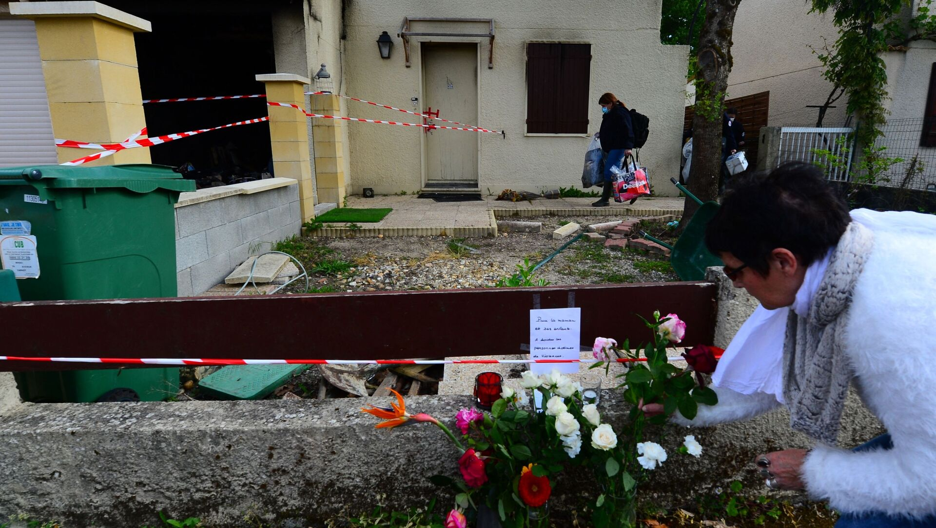 Hommage à Chahinez B., immolée par le feu par son mari près de Bordeaux, à Mérignac - Sputnik France, 1920, 04.08.2021