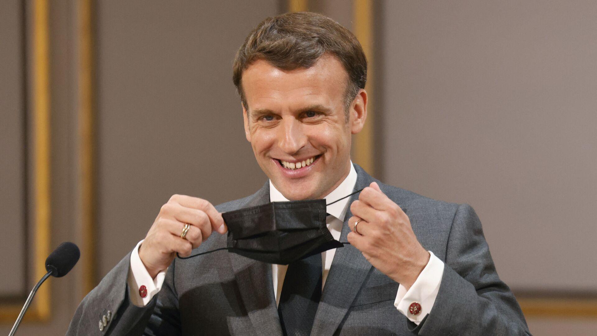 Emmanuel Macron, le 1er mai, à Paris - Sputnik France, 1920, 24.09.2021