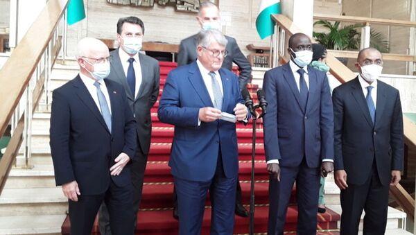 Le PDG du groupe Bouygues, Olivier Bouygues, à Abidjan à l'issue de son entretien avec le Président Ouattara - Sputnik France