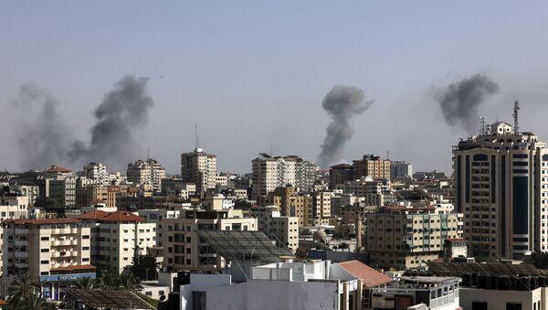 Israël bombarde la bande de Gaza / image d'illustration - Sputnik France