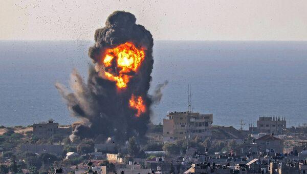 Bombardement israélien dans la bande de Gaza, le 13 mai 2021 - Sputnik France
