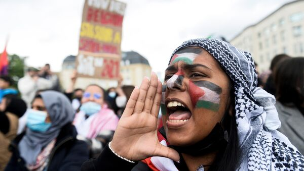 Les manifestations de soutien à la Palestine  - Sputnik France