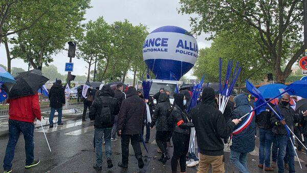 Manifestation des policiers devant l'Assemblée nationale à Paris, le 19 mai 2021 - Sputnik France