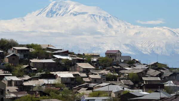 Le mont Ararat vu depuis le territoire arménien (archive photo) - Sputnik France