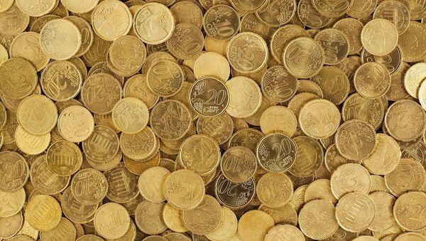 Pièces jaunes. Centimes d'euro. Images d'illustration - Sputnik France