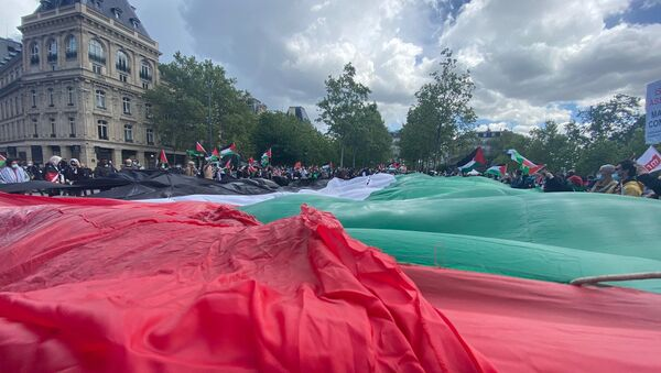Une manifestation en soutien au peuple palestinien se tient à Paris, 22 mai 2021 - Sputnik France