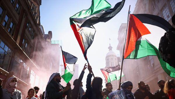 Une manifestation pro-Palestine à Londres, le 15 mai 2021 - Sputnik France