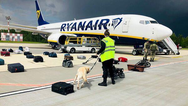 un Boeing 737-8AS de Ryanair à Minsk - Sputnik France