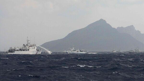 Des navires taïwanais près des îles Senkaku, le 25 septembre 2012  - Sputnik France