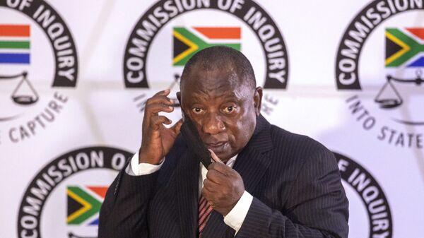 Cyril Ramaphosa, président sud-africain, 28 avril 2021 - Sputnik France
