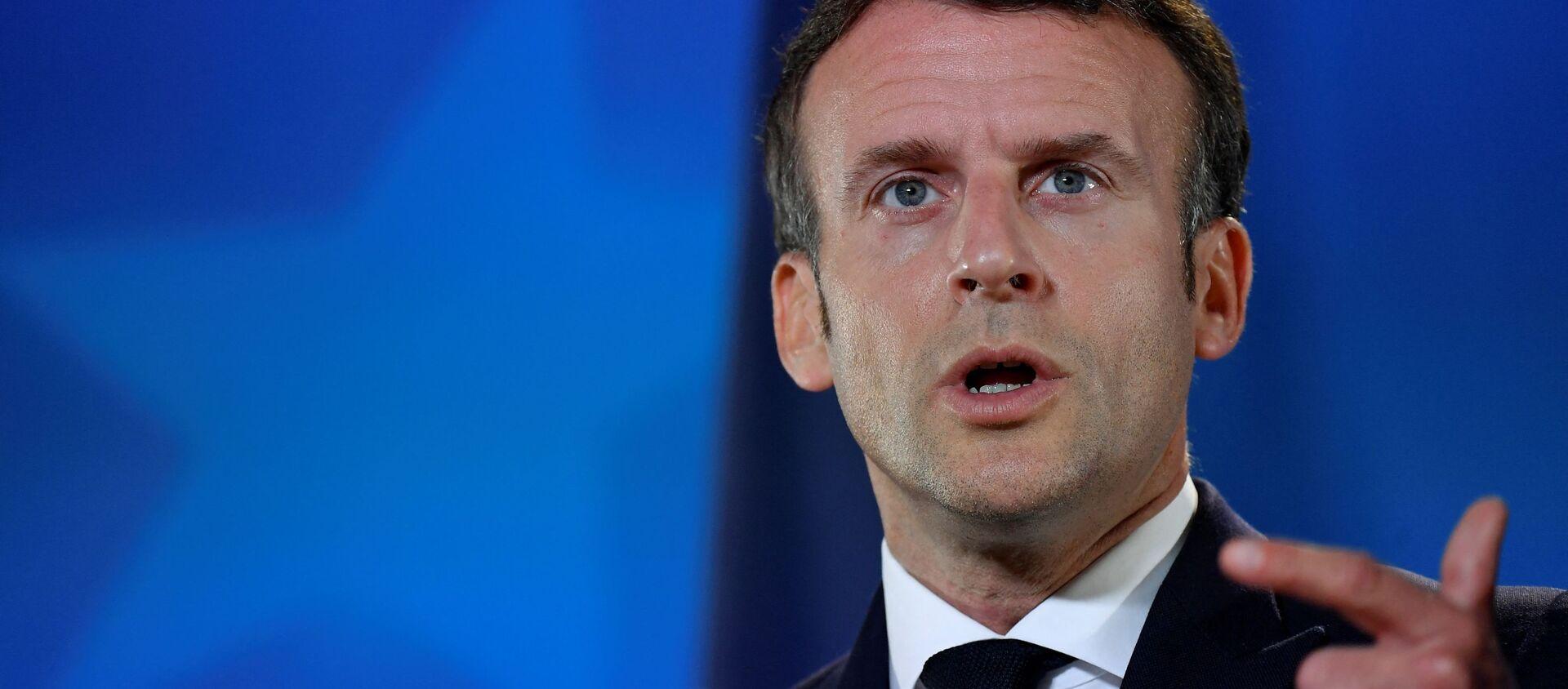 Emmanuel Macron  - Sputnik France, 1920, 20.07.2021