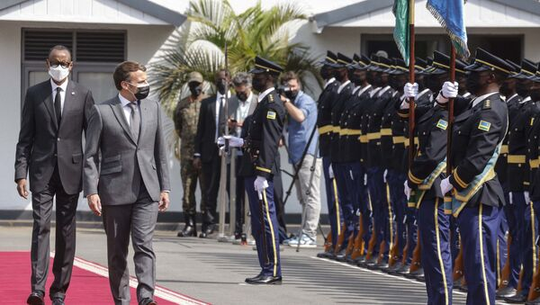 La visite d'Emmanuel Macron au Rwanda, le 27 mai 2021. - Sputnik France