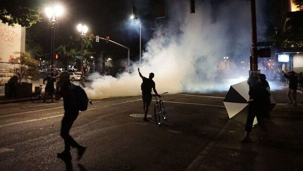 Manifestation à Portland. Image d'archive  - Sputnik France