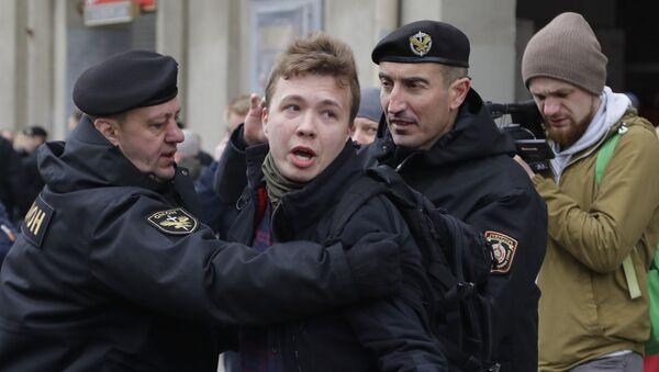 Interpellation de Roman Protassevitch à Minsk lors d'une manifestation en 2017 (archive photo) - Sputnik France