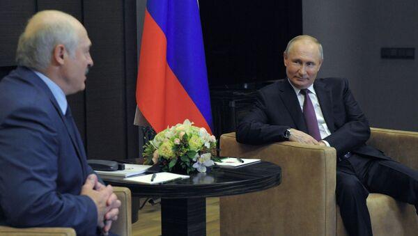 Vladimir Poutine et Alexandre Loukachenko, le 28 mai 2021 - Sputnik France