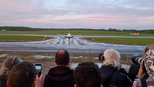 Un avion de Ryanair détourné vers Minsk atterrit à Vilnius le 23 mai, 2021 - Sputnik France