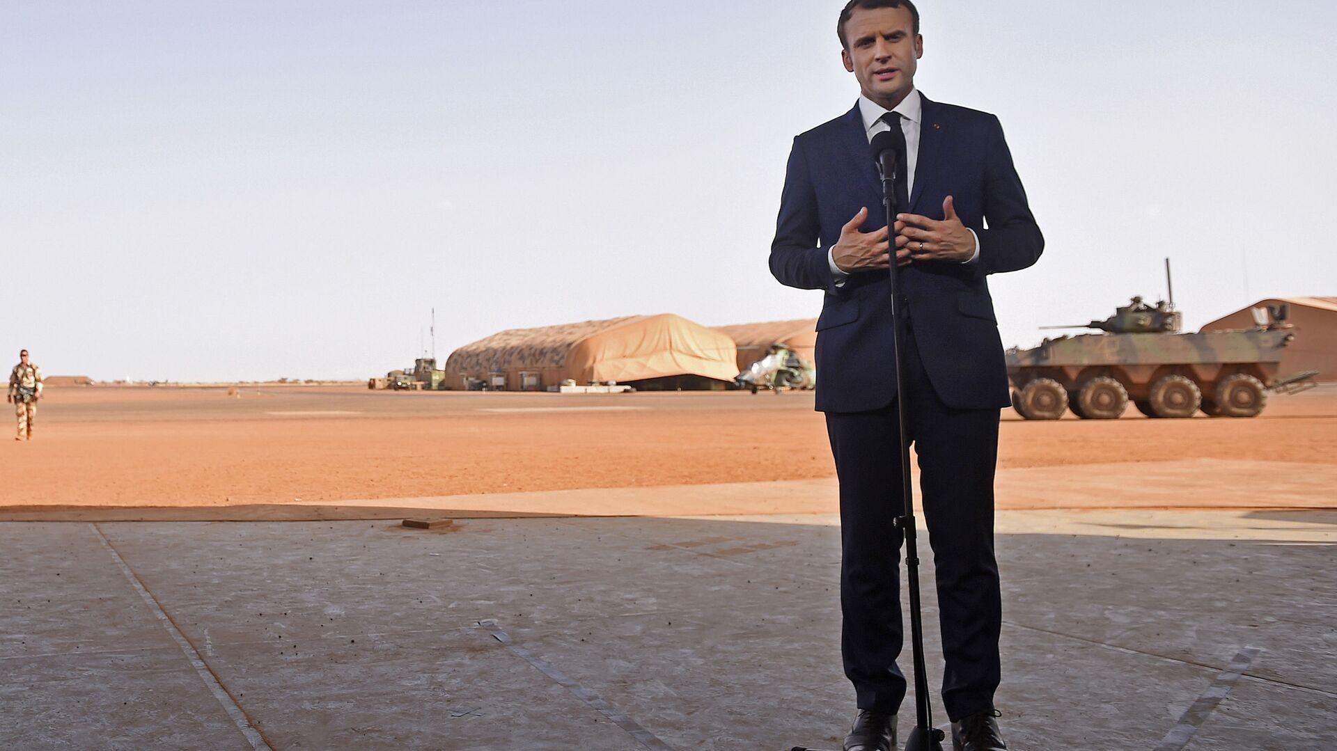 Emmanuel Macron au Mali en 2017 - Sputnik France, 1920, 17.09.2021