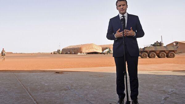 Emmanuel Macron au Mali en 2017 - Sputnik France