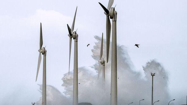 Éoliennes au port de Boulogne-sur-Mer, 8 février 2016 (Photo PHILIPPE HUGUEN / AFP) - Sputnik France