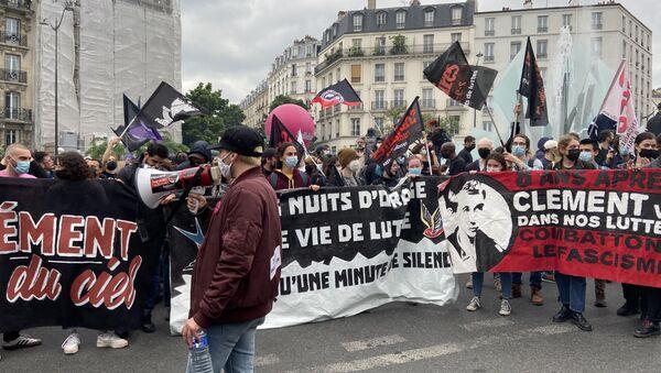Une manifestation en mémoire de Clément Méric à Paris, le 5 juin 2021 - Sputnik France