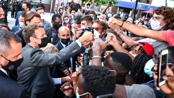 Emmanuel Macron dans la Drôme - Sputnik France