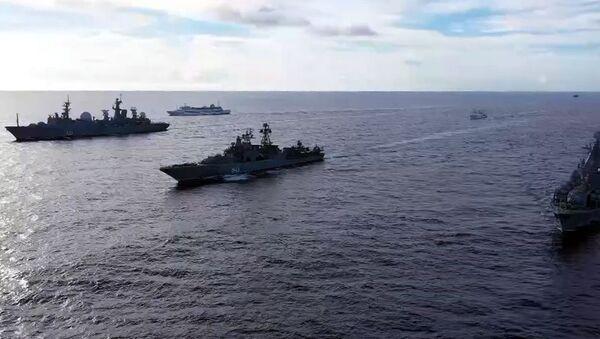 Des exercices maritimes russes dans l'océan Pacifique - Sputnik France