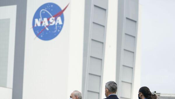 Kennedy Space Center avec le logo de NASA - Sputnik France