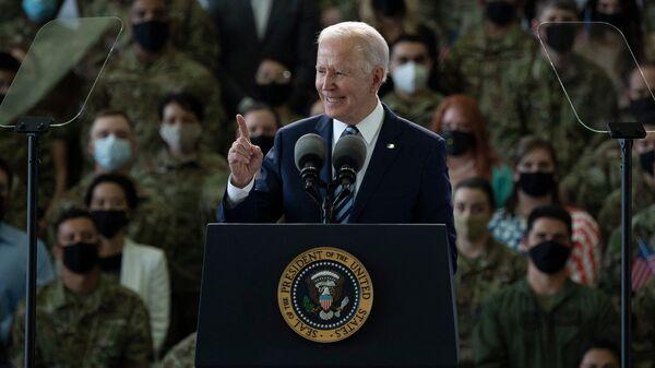 Joe Biden devant l'US Air Force - Sputnik France