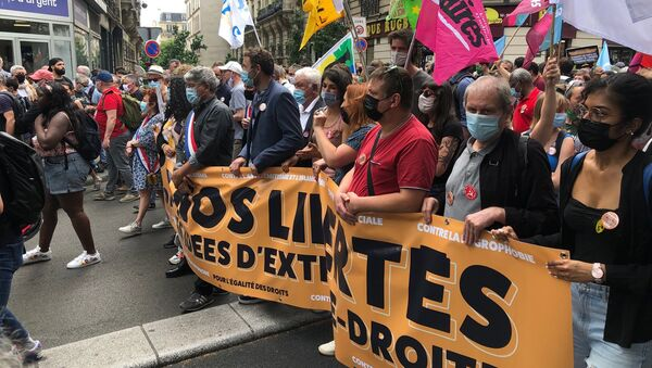 «Une marche des libertés» pour «combattre les idées d'extrême droite» se tient à Paris, le 12 juin 2021 - Sputnik France