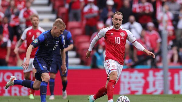 Christian Eriksen lors du match Danemark-Finlande à l'Euro 2020 - Sputnik France
