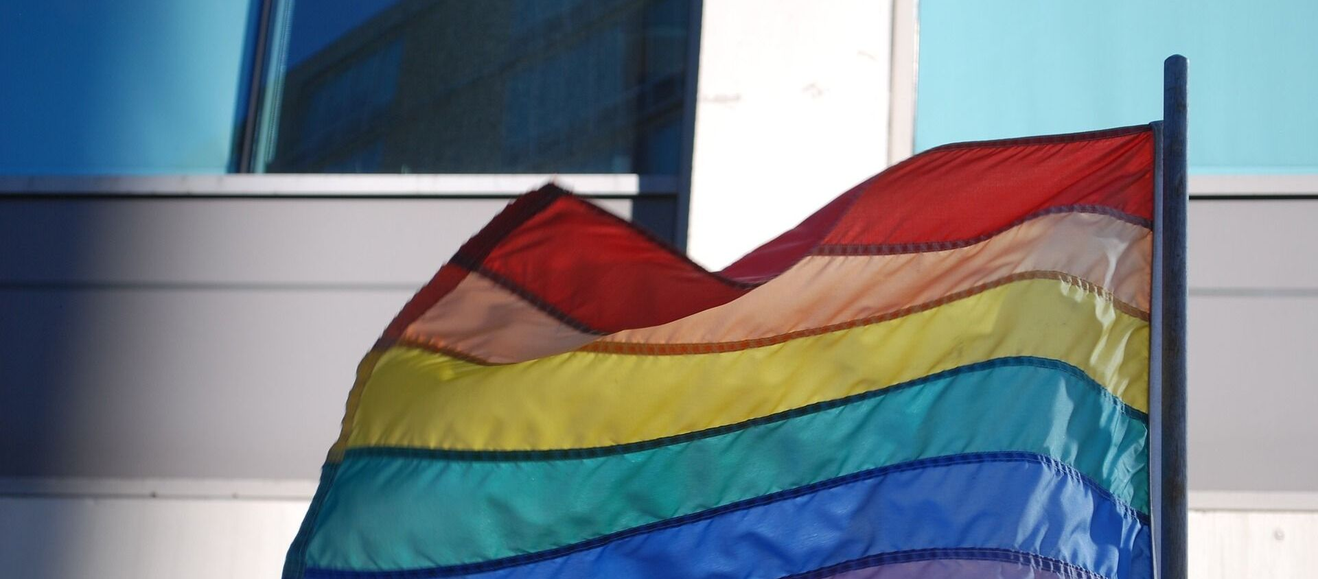 Un drapeau LGBT+ - Sputnik France, 1920, 27.06.2021
