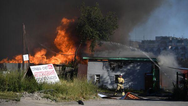 Incendie dans une station-service à Novossibirsk - Sputnik France