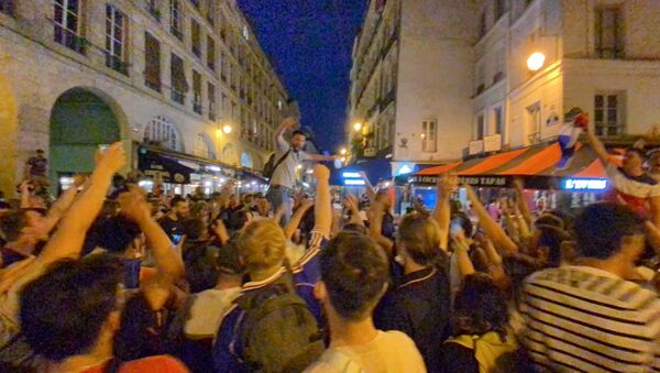 Les supporters parisiens lors du match France-Allemagne, 15 juin 2021 - Sputnik France