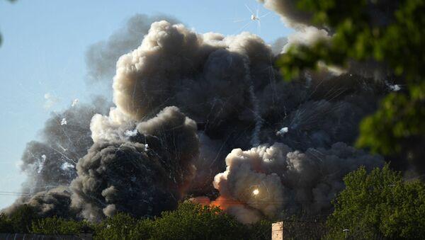 Dans la capitale russe, un incendie important suivi de nombreuses déflagrations a été signalé ce samedi 19 juin.  - Sputnik France