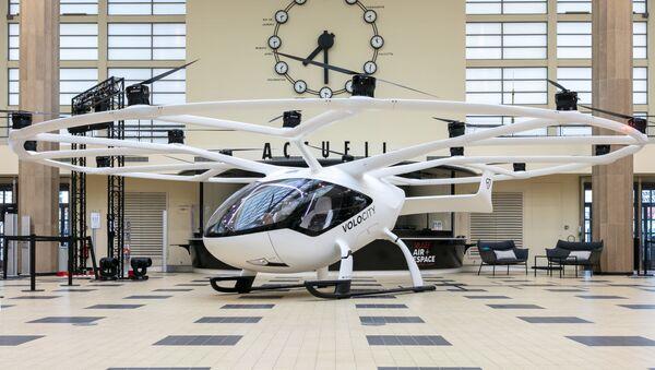 Le VoloCity de Volocopter exposé au musée de l'air et de l'espace au Bourget lors du Paris Air Forum - Sputnik France