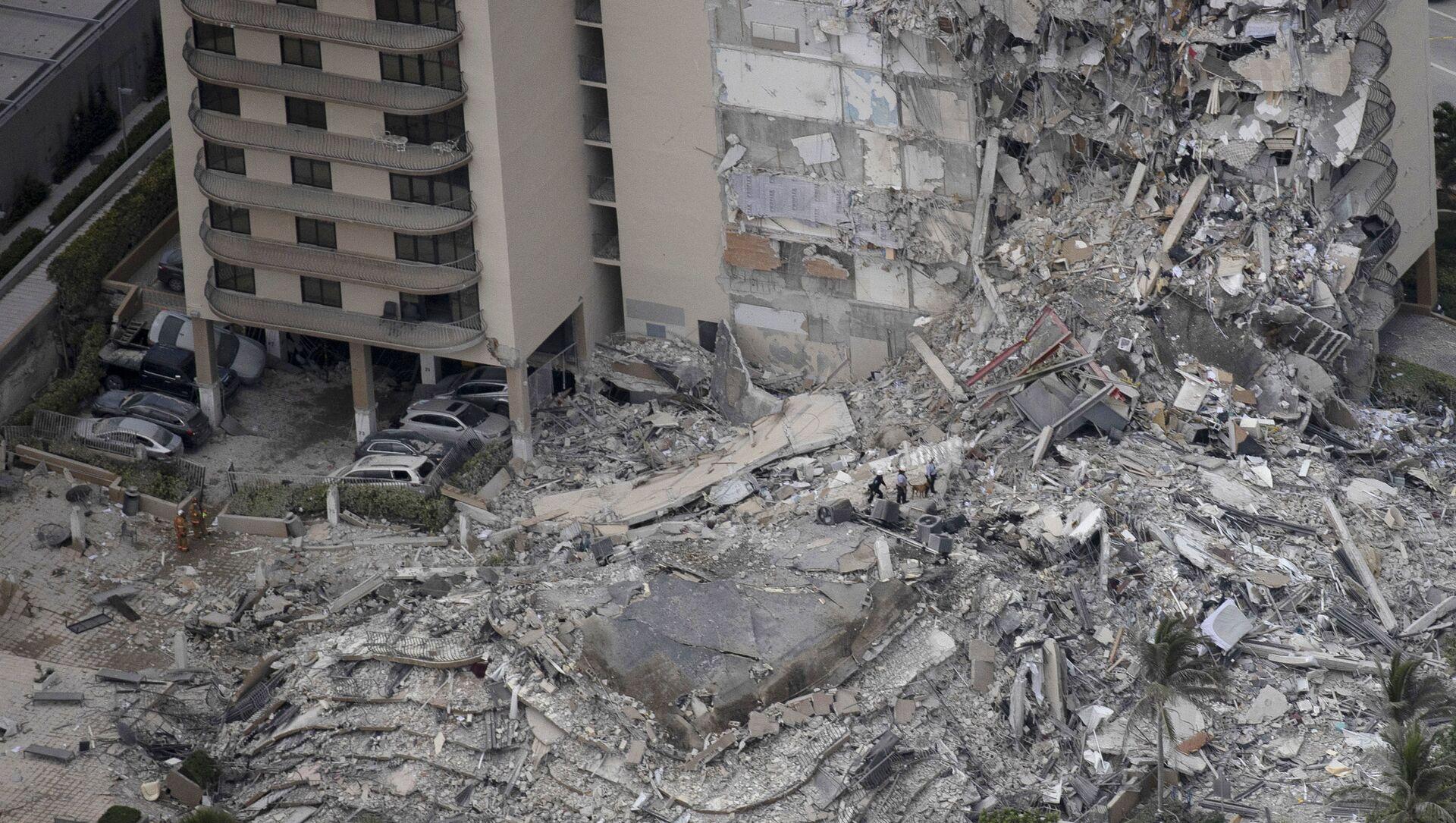 Effondrement d'un immeuble résidentiel près de Miami - Sputnik France, 1920, 24.06.2021