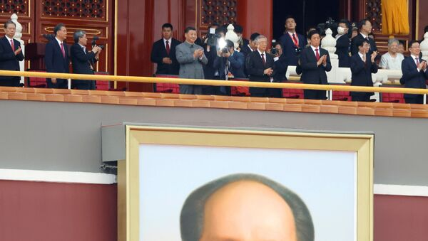 Le Président chinois Xi Jinping lors du 100e anniversaire du Parti communiste chinois, le 1er juillet 2021 à Pékin - Sputnik France