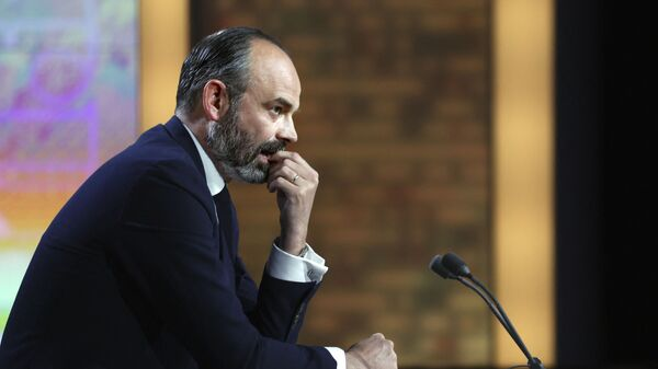 French mayor of Le Havre and former Prime Minister Edouard Philippe is pictured on the set of French TV channel France 2 in Paris, on April 4, 2021. (Photo by THOMAS COEX / AFP) - Sputnik France