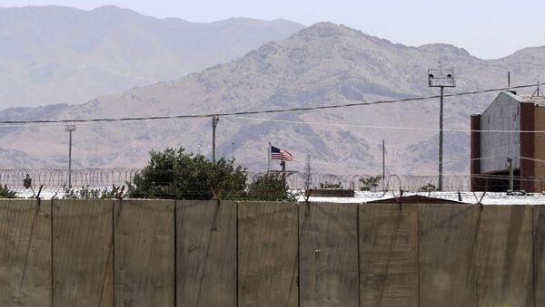 The flag of the United States flies over Bagram Air Base, in Afghanistan, Friday, June 25, 2021. - Sputnik France