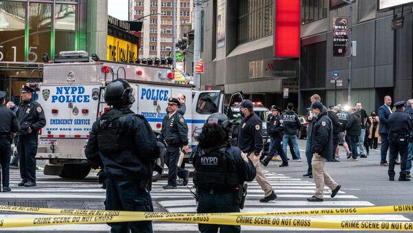 La police sur les lieux d'une fusillade à New York (archive photo) - Sputnik France