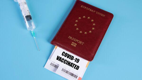 Certificat de vaccination (image d'illustration) - Sputnik France