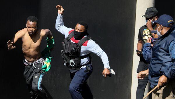 Afrique du Sud: émeutes suite à l'arrestation de Jacob Zuma   - Sputnik France