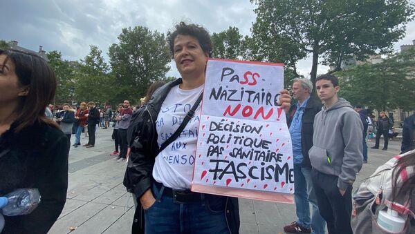 Manifestation non déclarée contre le pass sanitaire, Paris, le 14 juillet 2021 - Sputnik France