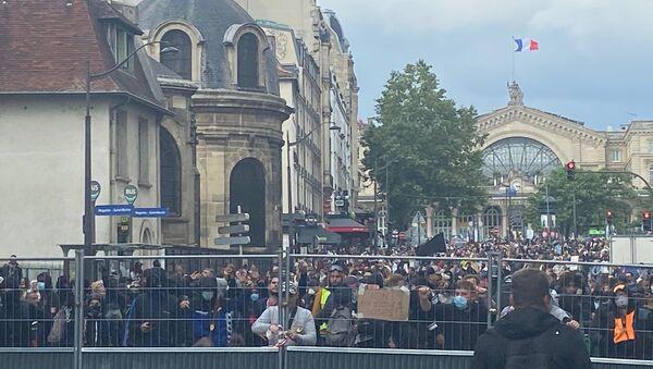 Manifestation contre le pass sanitaire à Paris, 14 juillet 2021 - Sputnik France