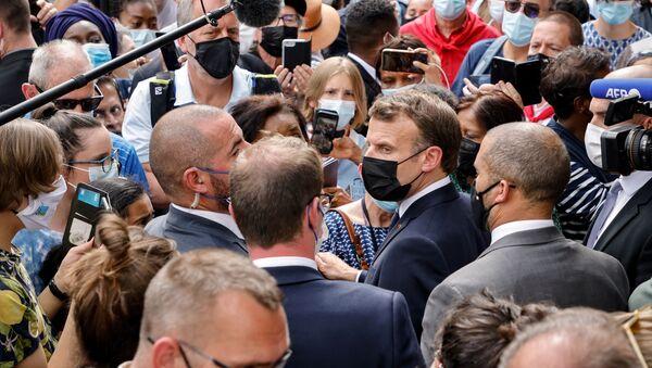 Emmanuel Macron à Lourdes, le 16 juillet 2021 - Sputnik France