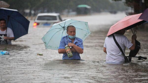 Les pluies diluviennes. Chine - Sputnik France