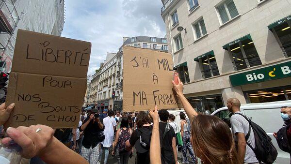 Manifestation contre le pass sanitaire, 24 juillet 2021 - Sputnik France