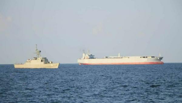 The Makran expeditionary sea base and fuel ship and Sahand frigate. - Sputnik France