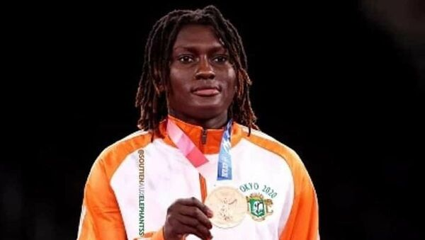 L'Ivoirienne médaillée de bronze de taekwando des JO 2021, Ruth Gbagbi - Sputnik France